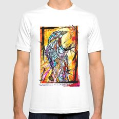 The Beautiful Bird Is The One Who Gets Caged Mens Fitted Tee White MEDIUM