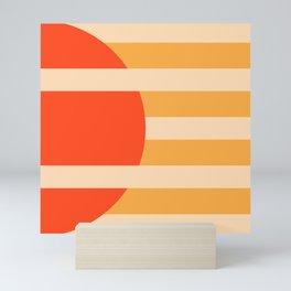 GEOMETRY ORANGE I Mini Art Print