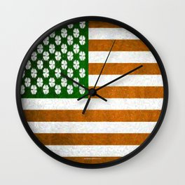 Irish American 015 Wall Clock