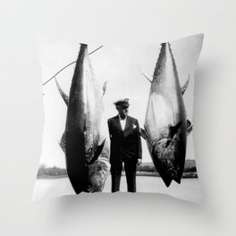 World Record Tuna - Thon record Throw Pillow