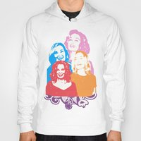 jessica lange Hoodies featuring Jessica Lange - Her smile is everything by BeeJL