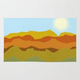 Summer Sunset Fields Rug