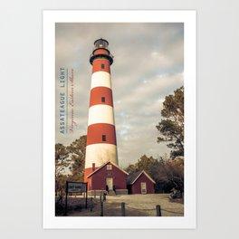 Assateague Light - Virginia.  Art Print