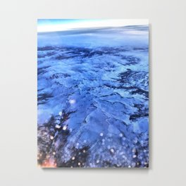 Flight over Mountians Metal Print