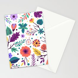 Colorful-Flowers Stationery Cards