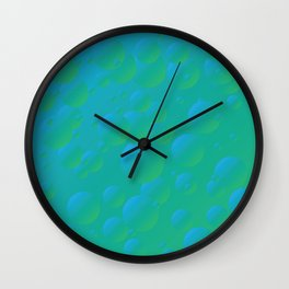 Fizzy Pear - Gradients in blue and green Wall Clock
