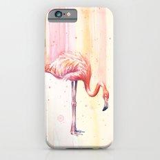 Pink Flamingo Watercolor Bird Animals Whimsical Animal iPhone 6s Slim Case