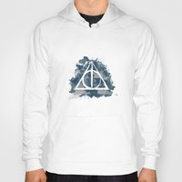 ravenclaw Hoodies featuring The Deathly Hallows (Ravenclaw) by FictionTea