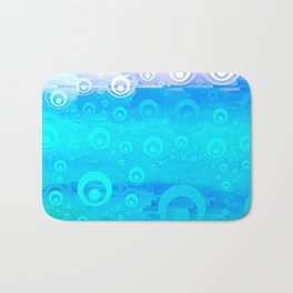 Blue Sky Bubble Pattern Bath Mat