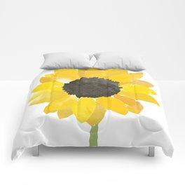 Watercolor Sunflower Comforters