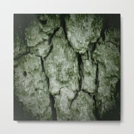 Darkened Tree Bark Metal Print