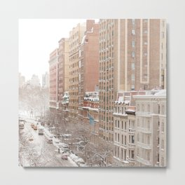 Snow Day in the Upper West Side Metal Print