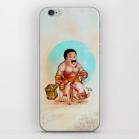 cleveland iPhone & iPod Skins featuring Cleveland rider by Nicolaine