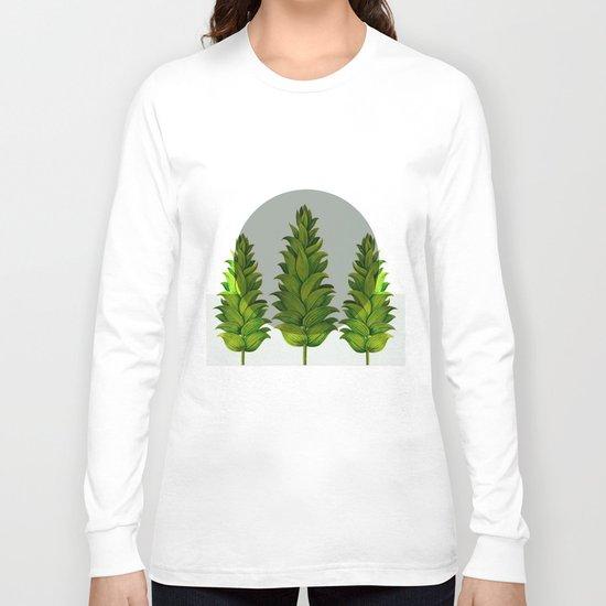 three green trees Long Sleeve T-shirt