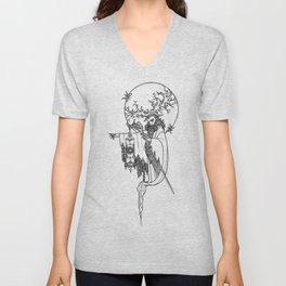 Major Arcana IX The Hermit Unisex V-Neck