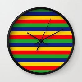 Lincolnshire flag stripes Wall Clock