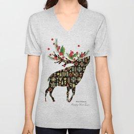 Christmas reindeer Unisex V-Neck