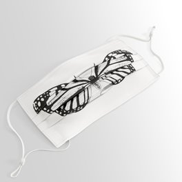Monarch Butterfly   Vintage Butterfly   Black and White   Face Mask