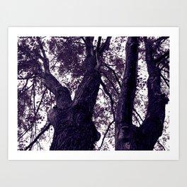 Ultra Violet Winter Trees Art Print