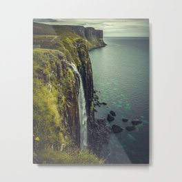 Ocean Waterfall Metal Print
