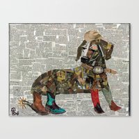 woody Canvas Prints featuring Woody by Becky Shelton