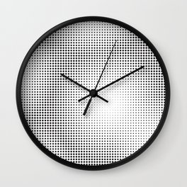 Full Configuration Black Raster - Optical game 13 Wall Clock