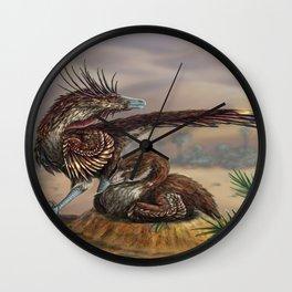 Brooding Velociraptors Wall Clock