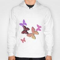 butterflies Hoodies featuring Butterflies by Judith Lee Folde Photography & Art