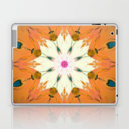 Bright Orange Mandala Design Laptop & iPad Skin
