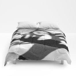 zebra crossing, tree shadow Comforters