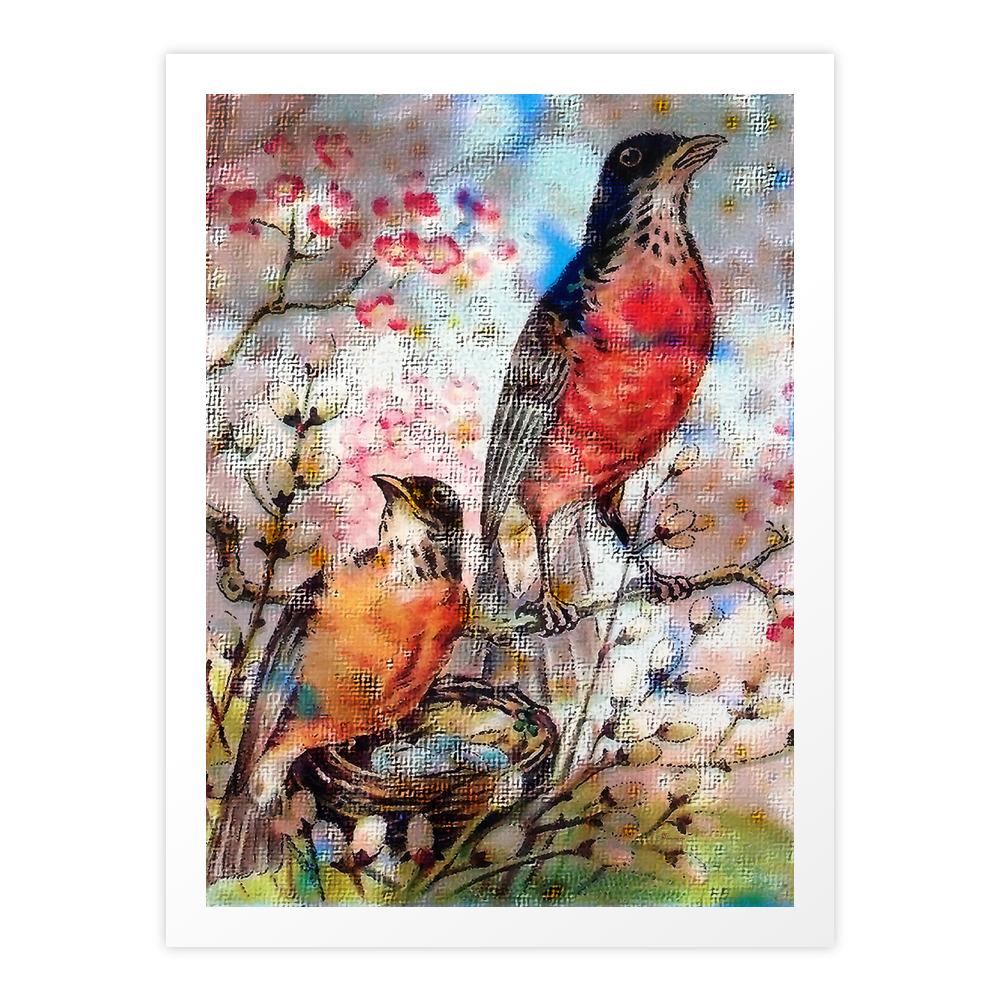 A Robin Redbreast Morning Art Print by tammera (PRN9496762) photo