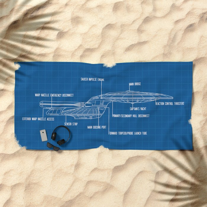 ENTERPRISE NCC-1701-D Beach Towel