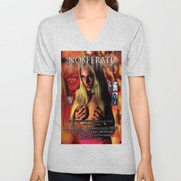 Nosferatu vs. Father Pipecock & Sister Funk (2014) -Movie Poster Unisex V-Neck