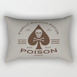 Black Spade Poison Rectangular Pillow
