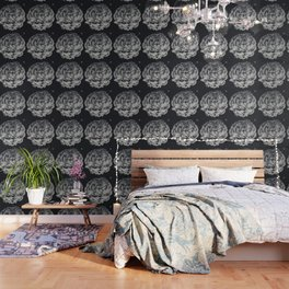 Desert Rose in Black and White Wallpaper
