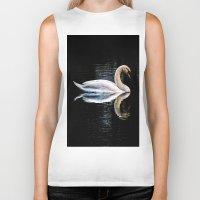 swan Biker Tanks featuring Swan by Ami_P