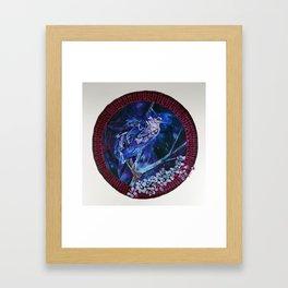 Dark-crowned Night Heron and Tamarisk Framed Art Print