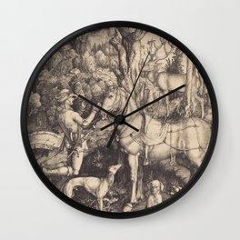 Albrecht Durer - Saint Eustacel. Wall Clock