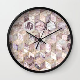 Blush Quartz Honeycomb Wall Clock