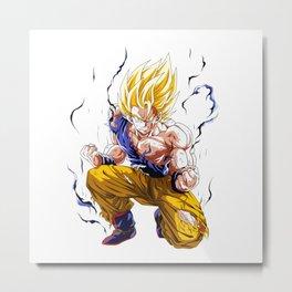 Goku Super Saiyan 2 Metal Print