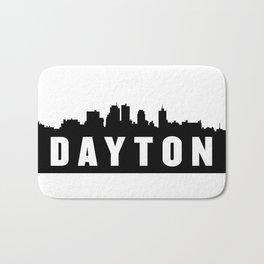 Dayton, Ohio City Skyline Silhouette Bath Mat