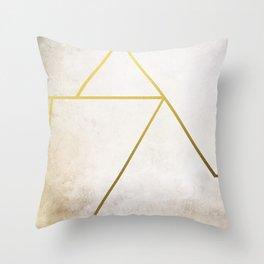 Golden Pyramid Throw Pillow