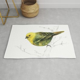 Mr Mohua , yellowhead New Zealand native bird Rug
