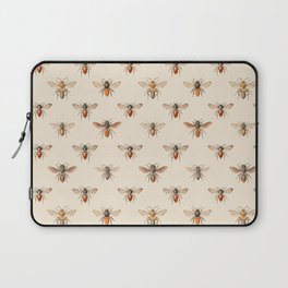 Vintage Bee Illustration Pattern Laptop Sleeve