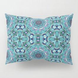 Blue ornament. Kaleidoscope. Pillow Sham