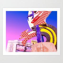 Pop Art City of Barcelona Art Print