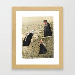 floating on dust Framed Art Print