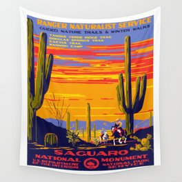 Saguaro National Monument Wall Tapestry