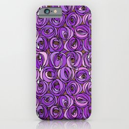 """Charles Rennie Mackintosh """"Roses and teardrops"""" edited 7. iPhone Case"""