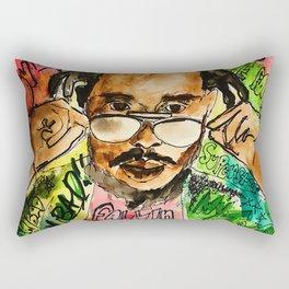 poppy,dancehall,reggae,music,lyrics,poster,jamaica,unruly,wall art Rectangular Pillow